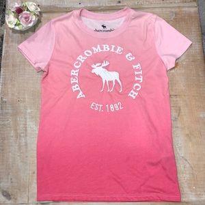 abercrombie girls ombré pink tee